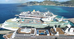 Aerial done view of  Cruises Stock Footage