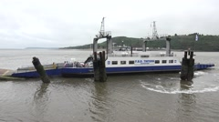 The Ballyhack car & passenger ferry, Co. Wexford, Ireland. Stock Footage