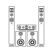 stereo system icon - stock illustration