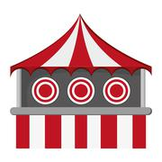 Bullseye tent in carnival icon Stock Illustration