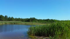 Medical lake, which contains iodine in the Kherson region Ukraine Stock Footage