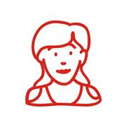 Woman icon. Human head design. Vector graphic - stock illustration