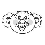senior man icon - stock illustration