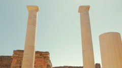 The House of Dionysos in the Greek Island of Delos Stock Footage