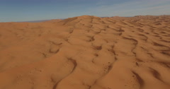 Drone footage of sand dunes, Erg Chebbi, Morocco Stock Footage
