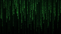The Matrix falling text labyrinth Stock Footage