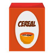Cereal box icon Stock Illustration