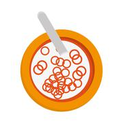 Cereal bowl icon Stock Illustration