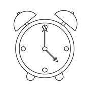 Analog alarm clock icon Stock Illustration