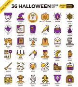 Spooky halloween icon Stock Illustration