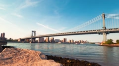 Time-lapse of the Manhattan Bridge - stock footage