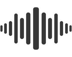 music soundwave icon - stock illustration