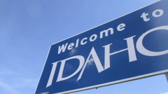 Welcome To Idaho Sign, Pan Stock Footage