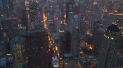 Timelapse of amazing Chicago panorama view at twilight beautiful skyline emblem  Arkistovideo