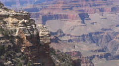 Aerial view of amazing Grand Canion in Arizona West Rim natural rock sedimentary Stock Footage
