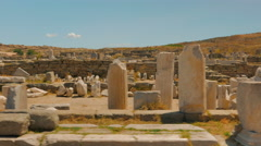 Ancient Market in the Greek Island of Delos Stock Footage