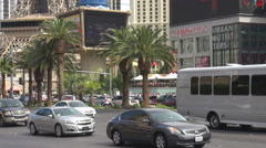 Busy Las Vegas Strip people travel and visit famous city tourism attraction icon Stock Footage