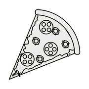 Pizza slice icon Stock Illustration