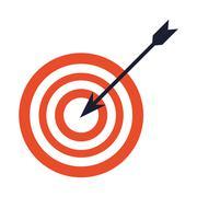 Bullseye with arrow icon Stock Illustration