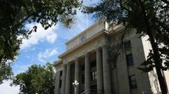 Yavapai County courthouse in Prescott, Arizona Stock Footage