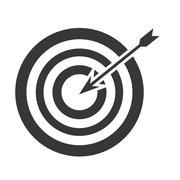 bullseye with arrow icon - stock illustration