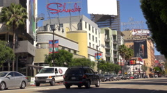 Timelapse traffic car on busy avenue in Los Angeles area people commute traveler Stock Footage