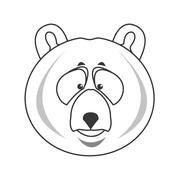 Grizzly bear icon Stock Illustration