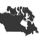 Canada map silhouette icon Stock Illustration