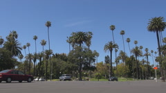 People travel in Beverly Hills district expensive residential area Los Angeles Stock Footage