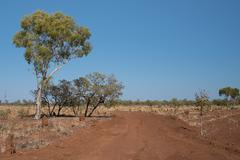 Outback Australia in drought conditions Stock Photos