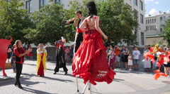 Spanish Dance Carnival in Moscow Stock Footage