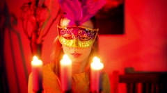 French masqurede new orleans mask Stock Footage
