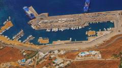Greek Island of Mykonos from Above Stock Footage