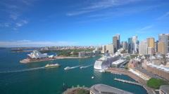 4k video of Circular Quay in Sydney CBD in daytime Stock Footage