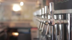 Craft Beer Tap Handles Stock Footage