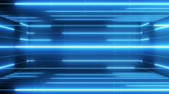 3d active matrix flowing lines and articles LOOP 4K Blue Stock Footage