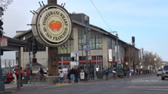 Timelapse busy traffic street in Fishermans Wharf area San Francisco touristic  Arkistovideo