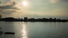 Belgrade Sava river timelapse 4K Stock Footage