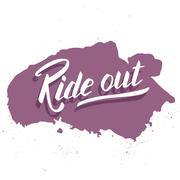 Ride out. Hand lettering quote. Perfect design Stock Illustration