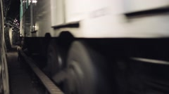 Subway Tunnel Metro Arrival Low Angle, Paris - stock footage