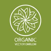 Organic logo vector Stock Illustration