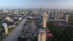 Aerial view of Uptown Houston - stock footage