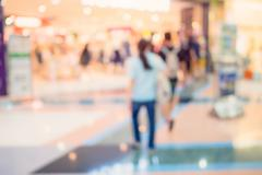 Blurred image background, people at shopping mall blur background with bokeh Stock Photos