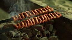Adana Kebab from the turkish cuisine Stock Footage