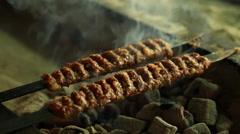 Turkish kebab cooking Stock Footage