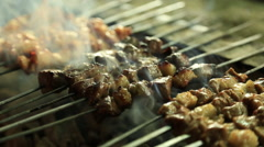 Lamb on the grill Stock Footage
