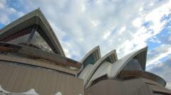 4k moving shot of Sydney Opera House Stock Footage