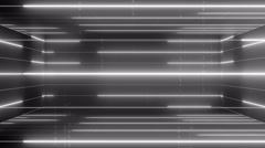 3d active matrix flowing lines and articles LOOP 4K Colorless Stock Footage