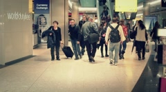 Shopping crowd airport Duty Free market - 1080p - stock footage