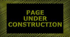 PAGE UNDER CONSTRUCTION scribble text sign Stock Illustration